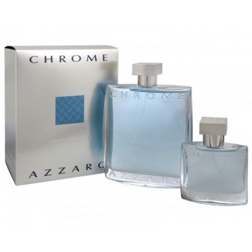 Azzaro Chrome тоалетна вода за мъже подаръчен комплект - тоалетна вода 200мл + тоалетна вода 30мл