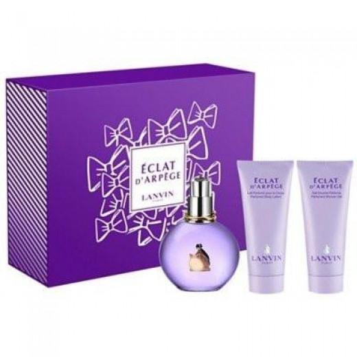 LANVIN Eclat D'Arpege парфюмна вода за жени подаръчен комплект парфюмна вода 100 мл + мляко за тяло 100 мл + душ гел 100 мл